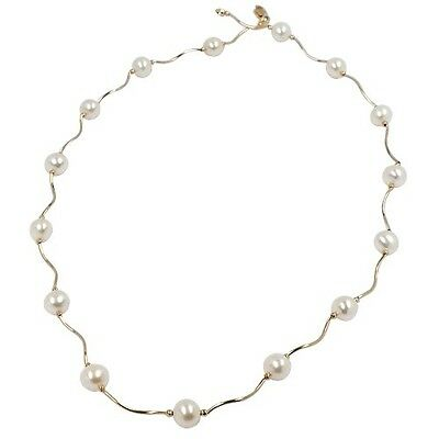 14KT YELLOW GOLD FRESHWATER CULTURED PEARL NECKLACE