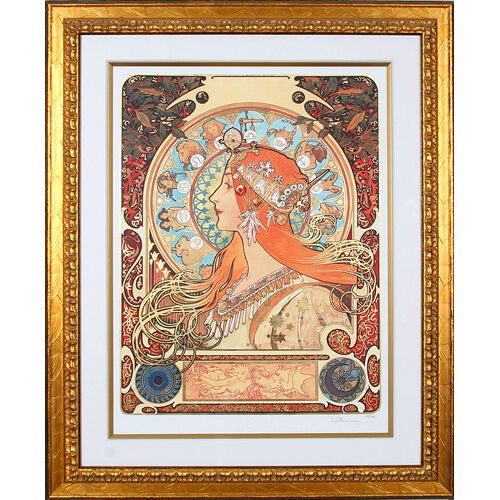"""ZODIAK"" by ALPHONSE MUCHA, Print Signed and Numbered"