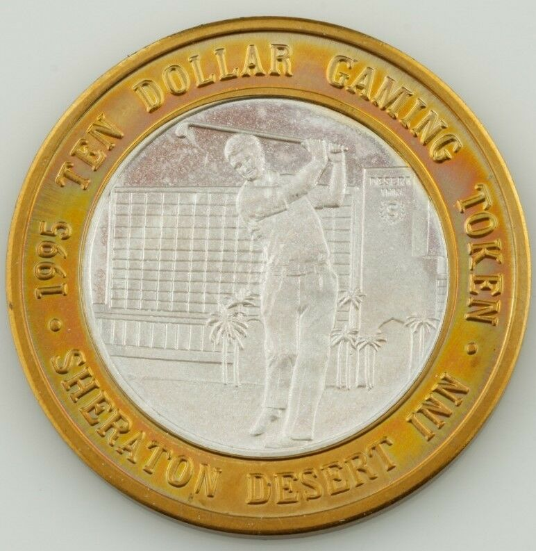 SHERATION, DESERT INN $10 TEN DOLLAR GAMING TOKEN .999 FINE SILVER COIN