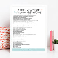 A Month of Stepmom Affirmations Printable