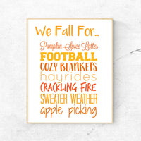 We Fall For... Wall Art Print
