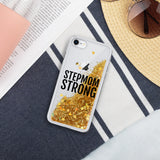 Stepmom Strong Liquid Glitter iPhone Case
