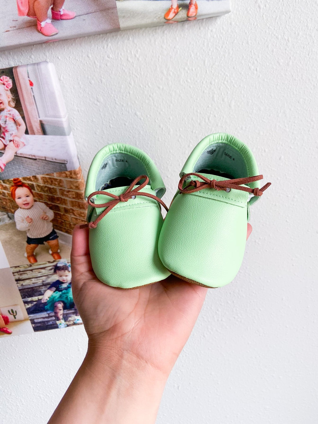 Mint Loafers with Laces