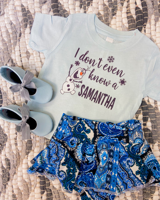 I dont know a Samanta ?! - Light blue kids Shirt