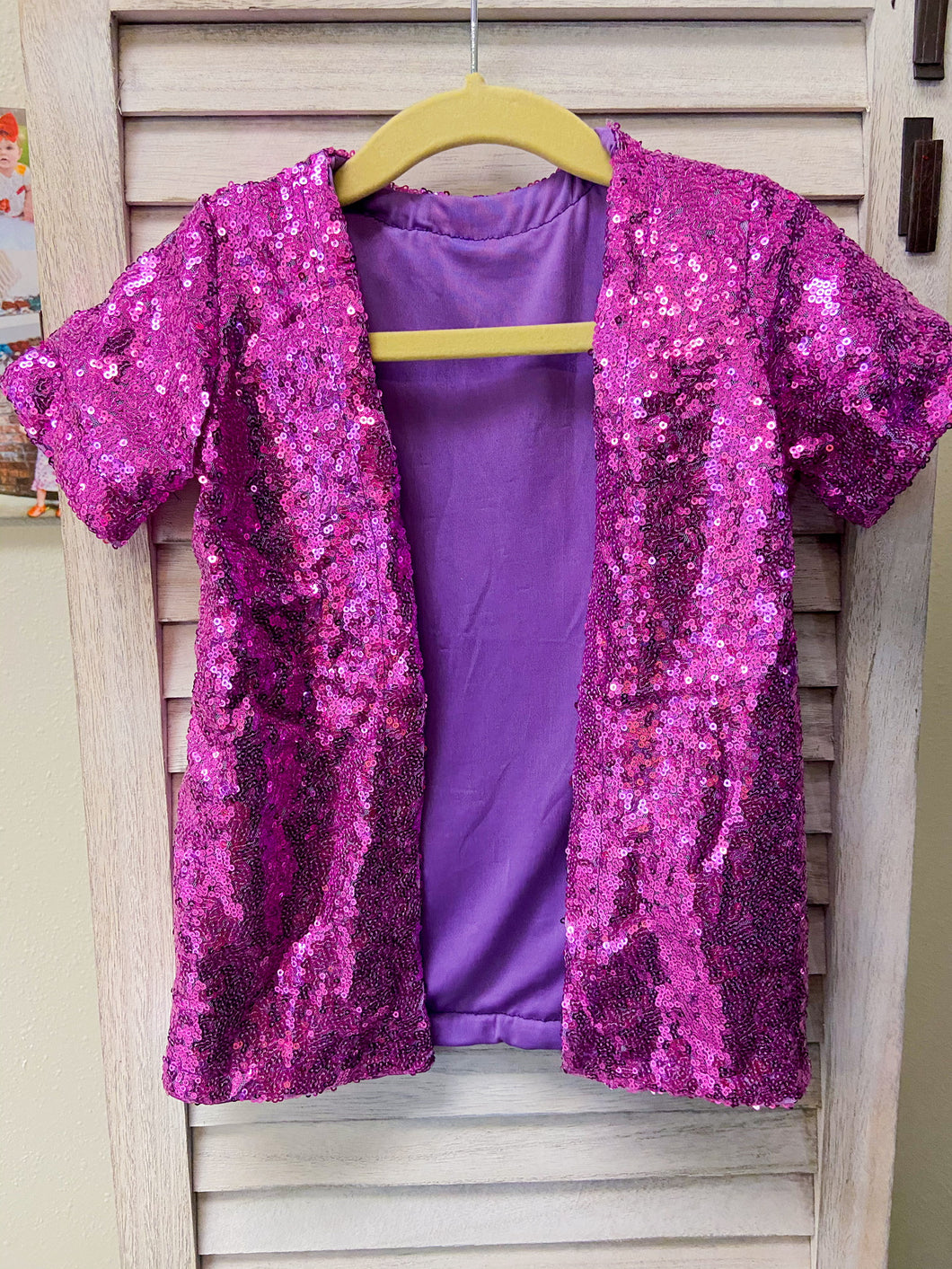 Orchid Purple Short Sleeve Duster