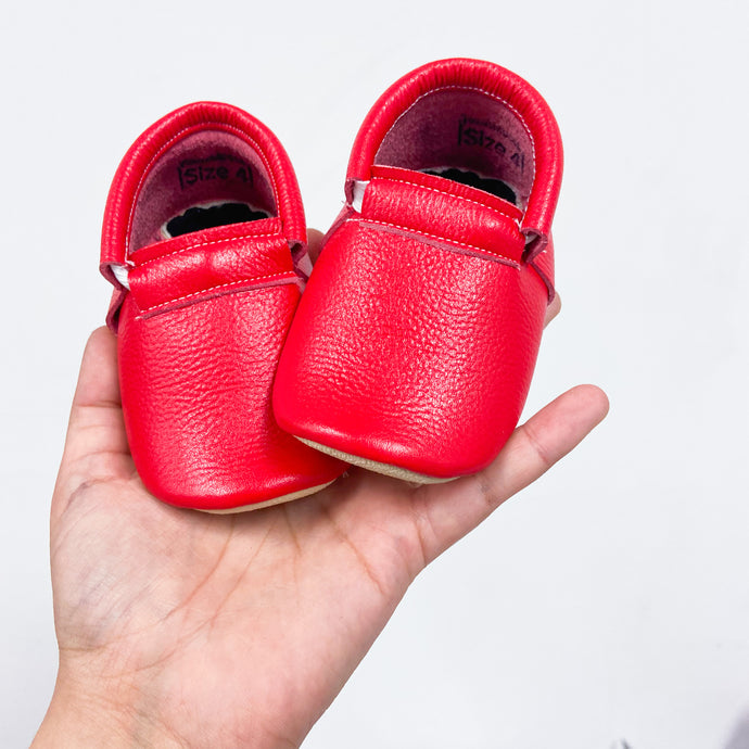Red Naked Loafers