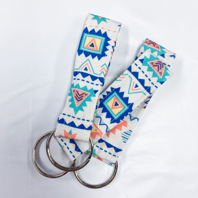 Blue Aztec - key ring