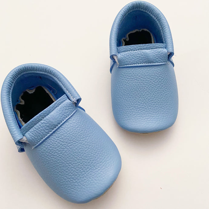 Powder Blue Naked Loafers- STYLE AS PICTURED