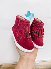 Wine Fringe High Tops - Hard Soles