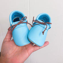 Robin Egg Blue Loafers with Laces- STYLE AS PICTURED