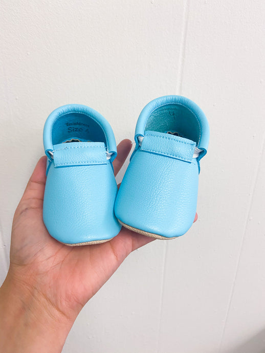 Robin Egg Blue Naked Loafers- STYLE AS PICTURED