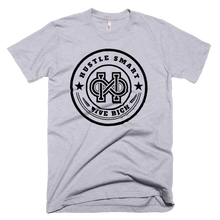 "Load image into Gallery viewer, ""HUSTLE SMART LIVE RICH"" LOGO T-SHIRT"