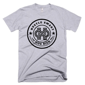 """HUSTLE SMART LIVE RICH"" LOGO T-SHIRT"