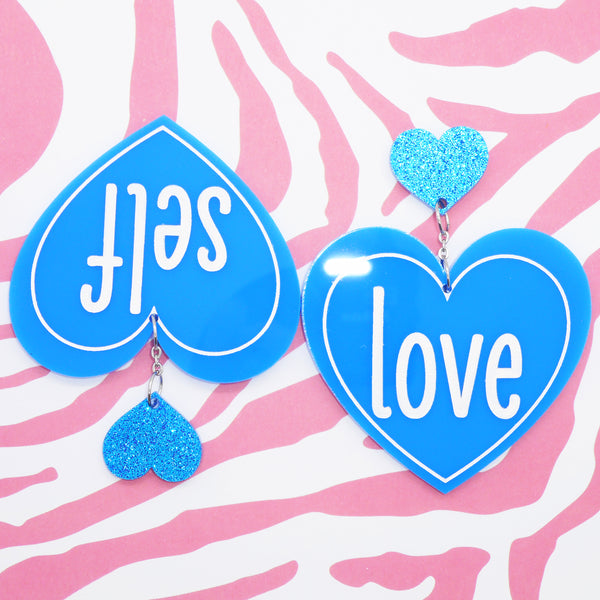 Self Love earrings (blue)