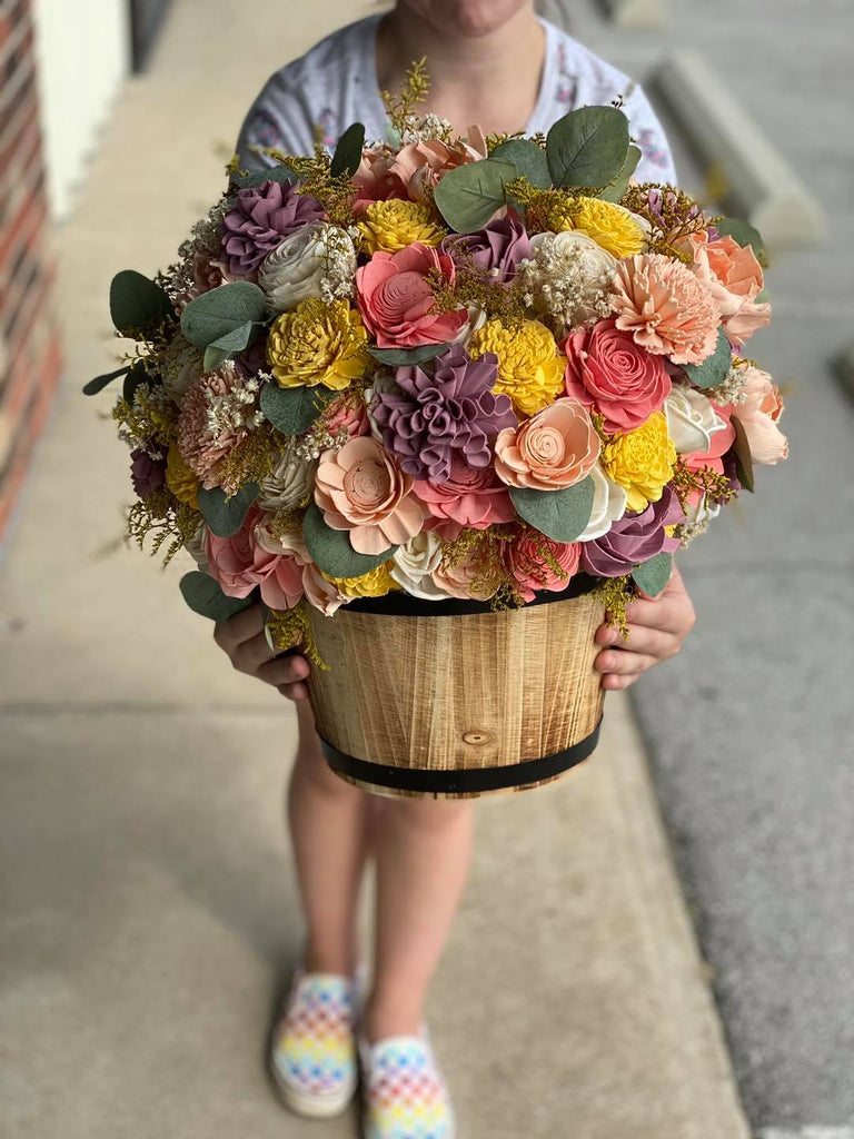 Sweet Summer Barrel Planter