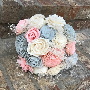Blush Dreams Mason Jar Bouquet