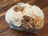 Browns and Natural White Small Centerpiece Box