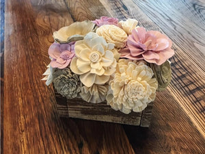 Lavender & Natural White Mini Centerpiece Box