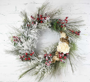 "24"" Frosted Berry Wreath"
