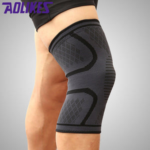 1Pair Fitness Running Cycling Knee Support Braces Elastic Nylon Sport Knee Pad Sleeve for Basketball Volleyball
