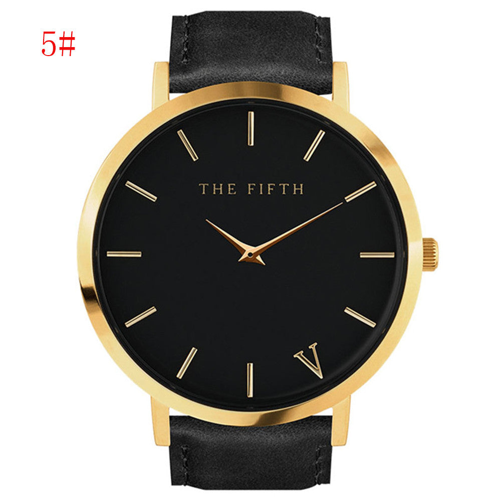 Thefifth watch Quartz watch Men's Watches Top Brand Luxury Leather Bus