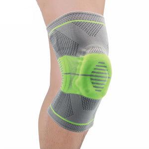 Professional athlete soporte knee pads crossfit knee protector with springs silicon Breathable Absorb basketball leg sleeves