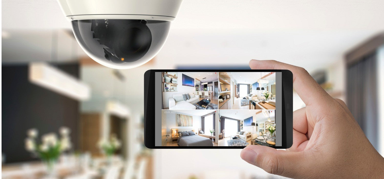 Home or commercial closed circuit television security and surveillance system with high definition real time video monitoring, remote access from mobile devices and integrated with home automation system