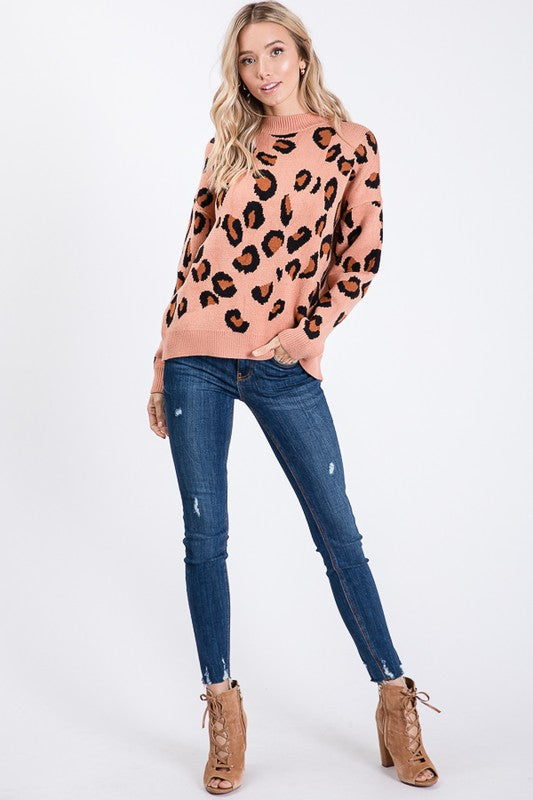Blushing Leopard Sweater