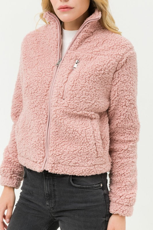 Sherpa Fleece Zip Up
