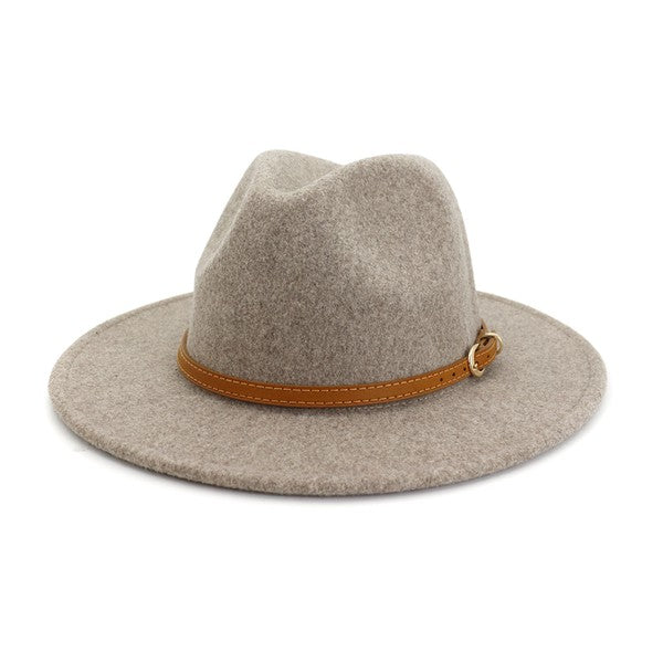 Panama Hat with Leather Belt