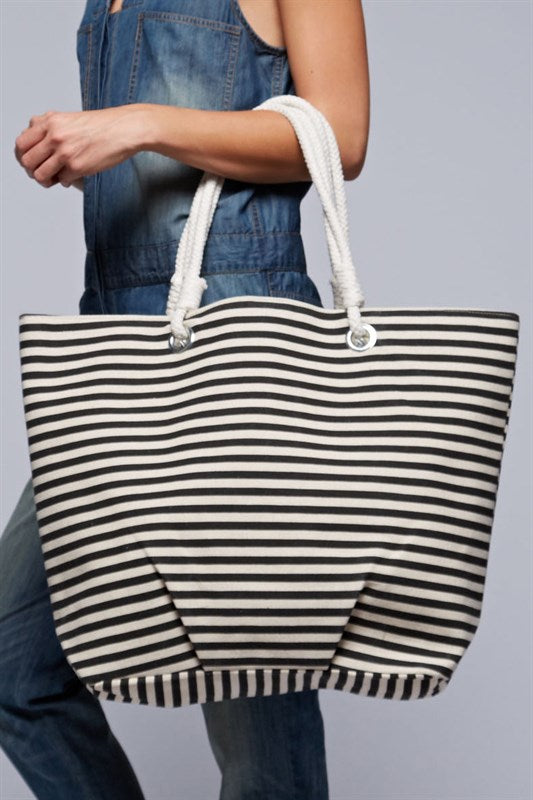 Striped Nautical Tote