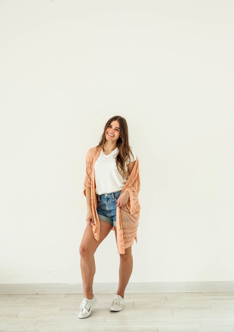 Soft Open Knit Cardigan