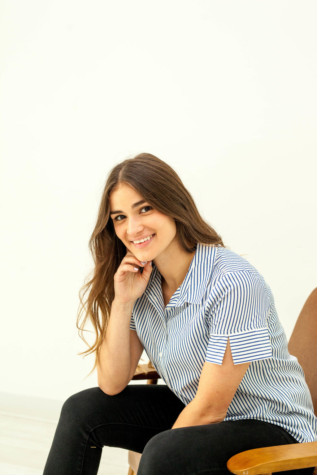 Fitted Striped Button Down