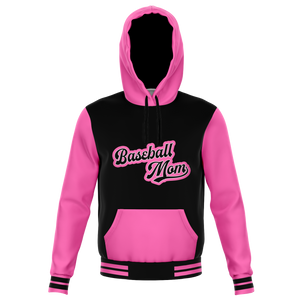 Varsity Hot Pink Baseball Mom Hoodie