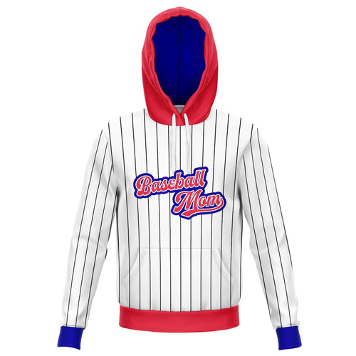Pin Stripe Baseball Mom Hoodie