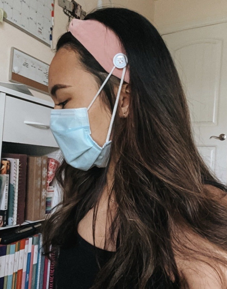 Nurses' Headband Pink Side