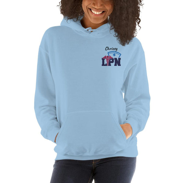 Personalized Embroidered LPN Hoodie