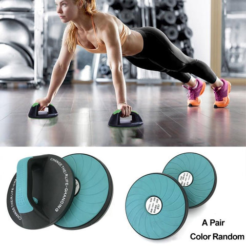 Image of 1 Pair Push-ups Frame Round 360-degree Rotating Push Up Stands Bar