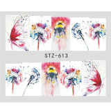 1 Sheet Water Decals Nail Art Stickers