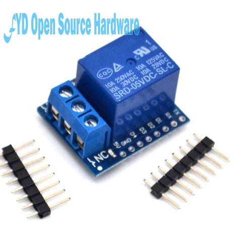 Image of 1 channel  Relay Shield V2 Version 2 for WEMOS D1 mini ESP8266 WiFi Module