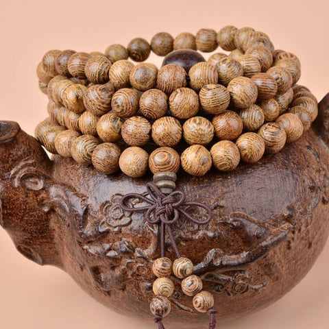 Image of Natural Chicken Woods Sandalwood Buddhist Prayer Beads