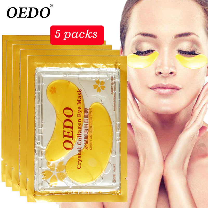 10pcs = 5pack Anti-Aging Gold Crystal Collagen Eye Mask Skin Care Eye Patches Crystal Beauty Anti Dark Circle Anti-Puffiness Cream