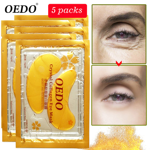Image of 10pcs = 5pack Anti-Aging Gold Crystal Collagen Eye Mask Skin Care Eye Patches Crystal Beauty Anti Dark Circle Anti-Puffiness Cream