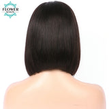 13x6 Lace Front Human Hair Wigs With Baby Hair 130% Short Cut Bob Wig