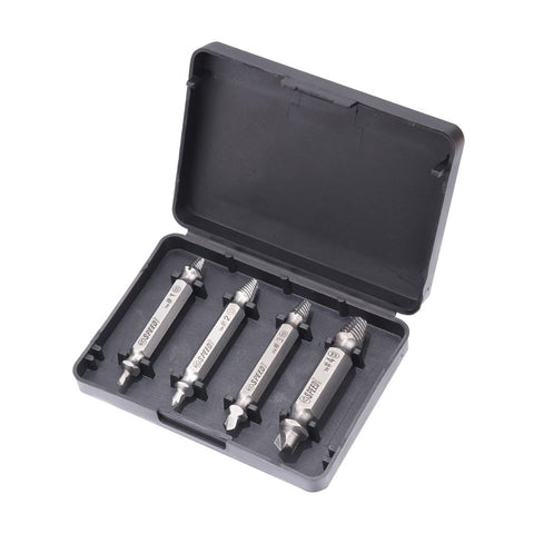 Image of 4Pcs / set Screw Extractor Set drill out easy to Remove Broken Screw