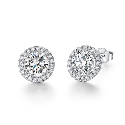 925 Sterling AAAAA Level Zircon Stud Earrings