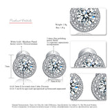 Micro Round CZ Crystal Stud Earrings
