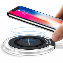 Qi Fast Wireless Charging Pad For Samsung & iPhone X / 8 Plus