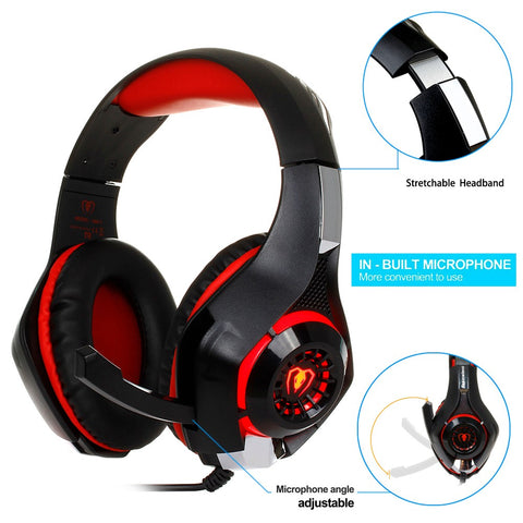 3.5mm Gaming Headphone Xbox One With Microphone