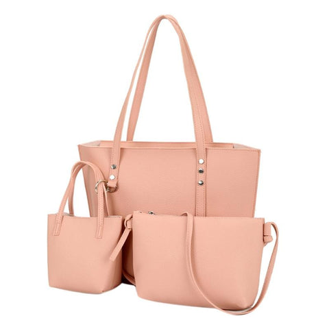 Image of 3PCS PU Leather Famous Brand Handbag